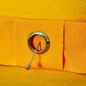 Vintage Accessories - Vintage Orange Tribly Fedora Wide Brim Hat Small